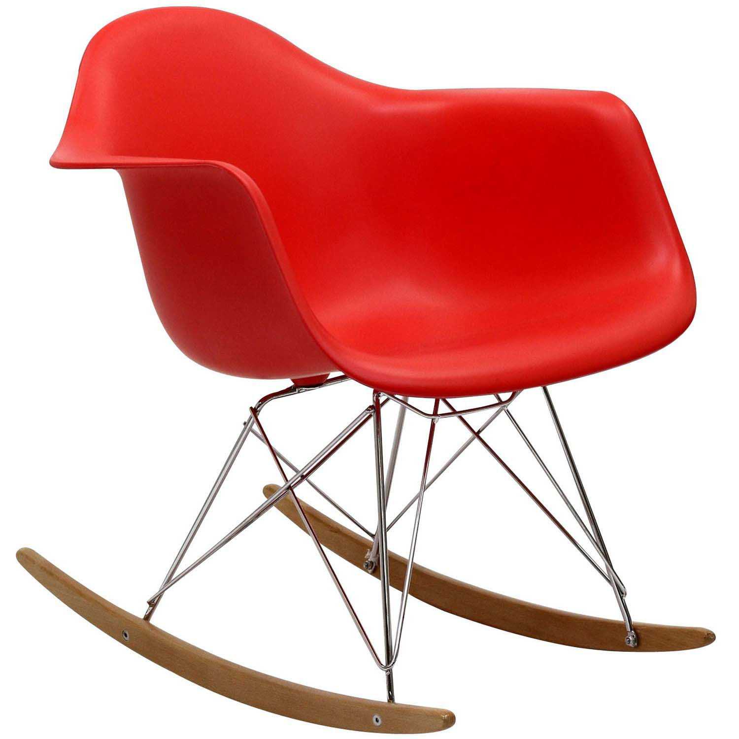 Modway Rocker Lounge Chair - Red