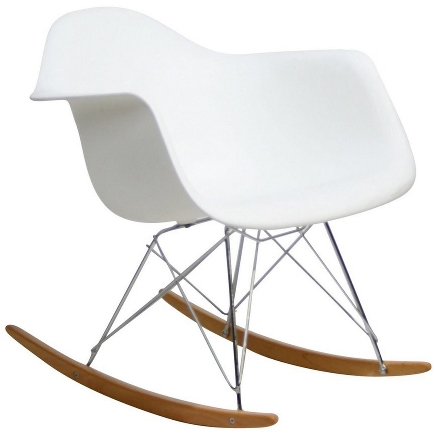 Modway Rocker Lounge Chair - White
