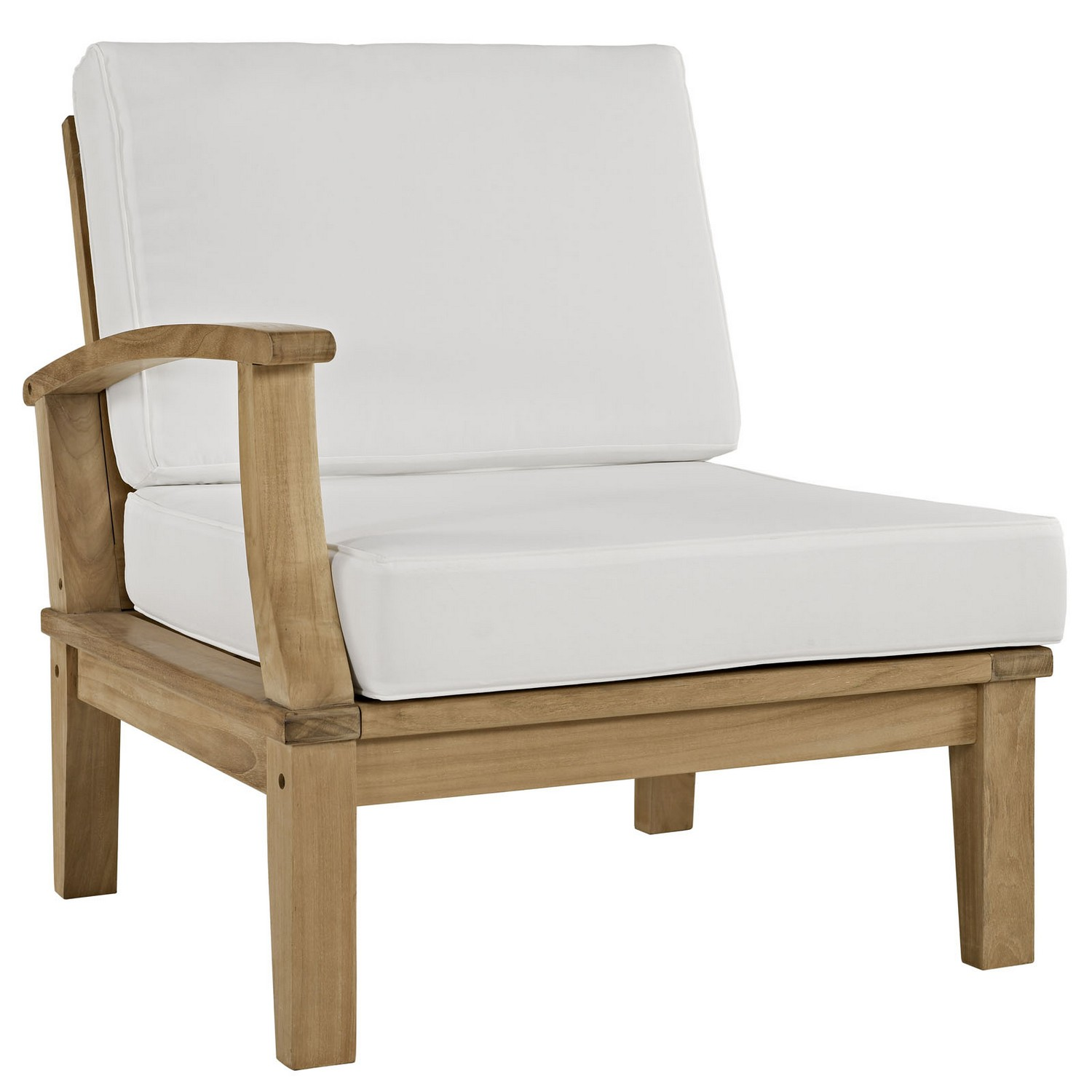 Modway Marina 7 Piece Outdoor Patio Teak Sofa Set - Natural White