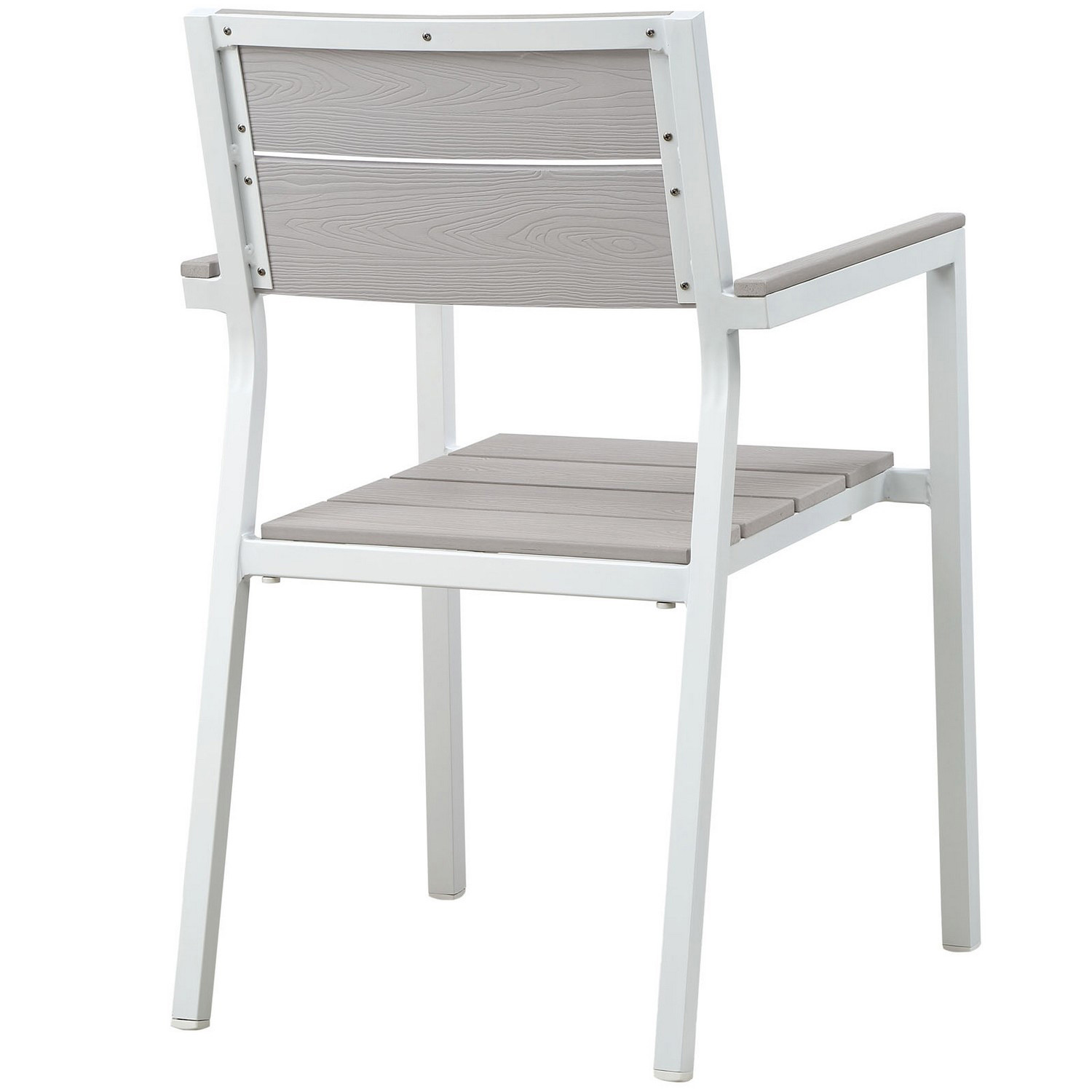 Modway Maine Dining Outdoor Patio Armchair - White/Light Gray