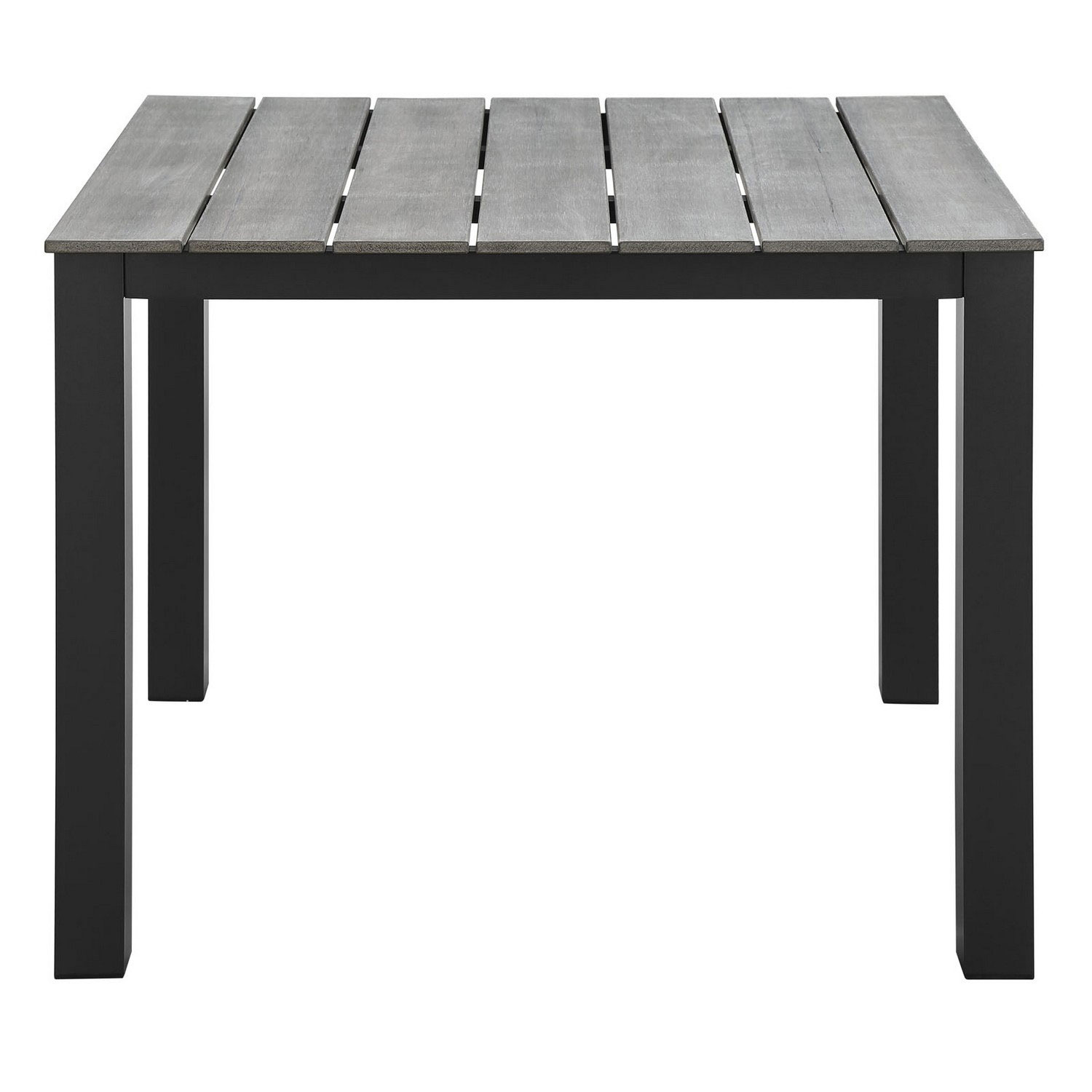 Modway Maine 40 Outdoor Patio Dining Table - Brown/Gray