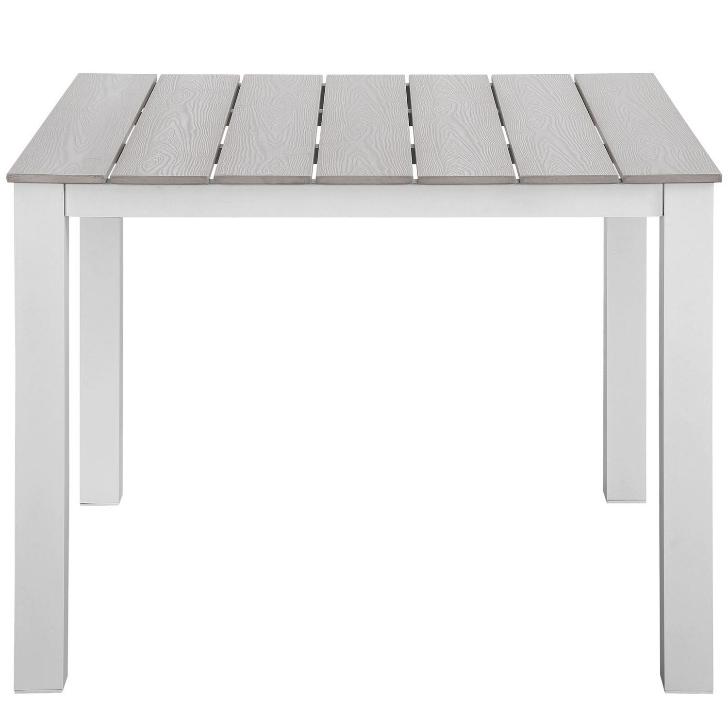 Modway Maine 40 Outdoor Patio Dining Table - White/Light Gray