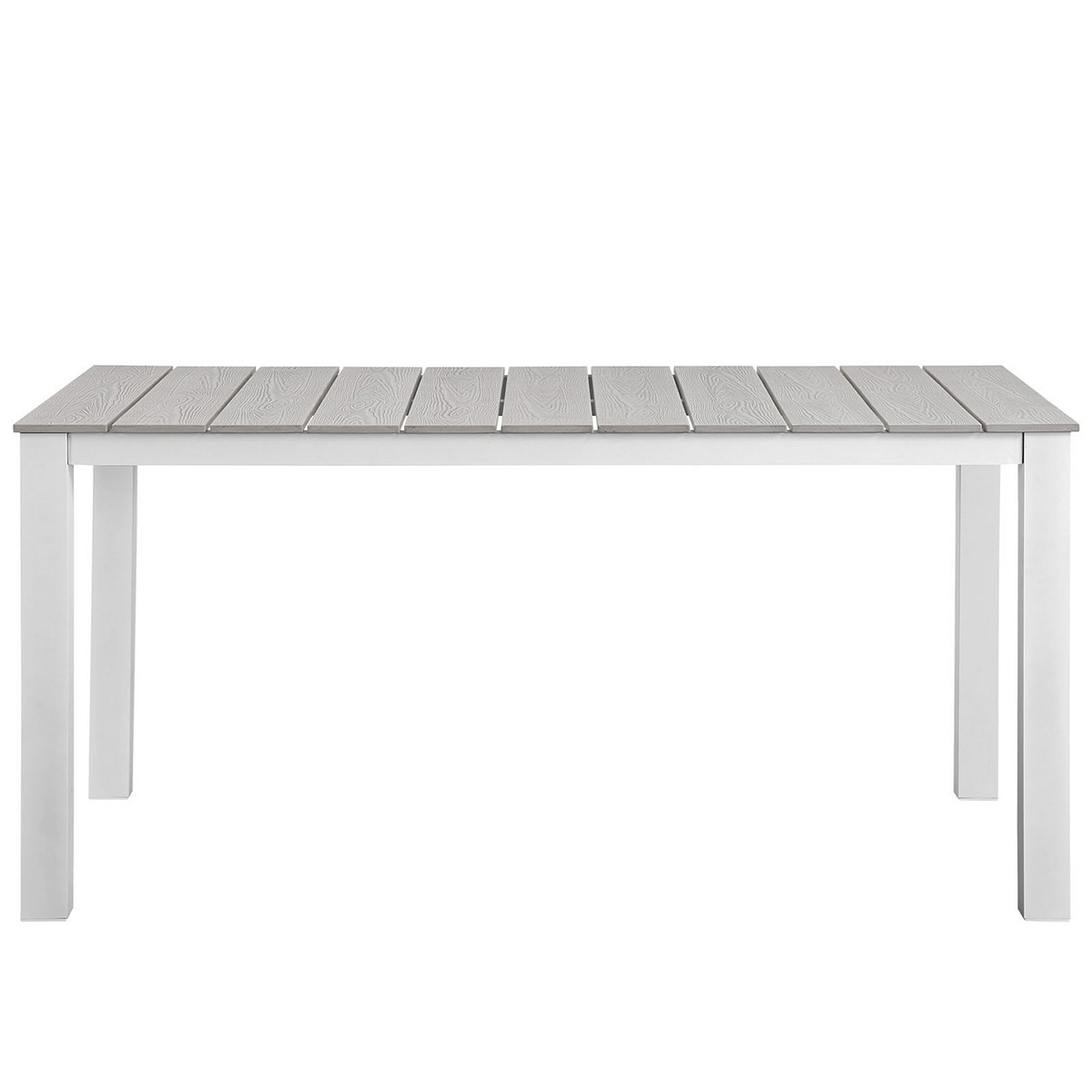 Modway Maine 63 Outdoor Patio Dining Table - White/Light Gray