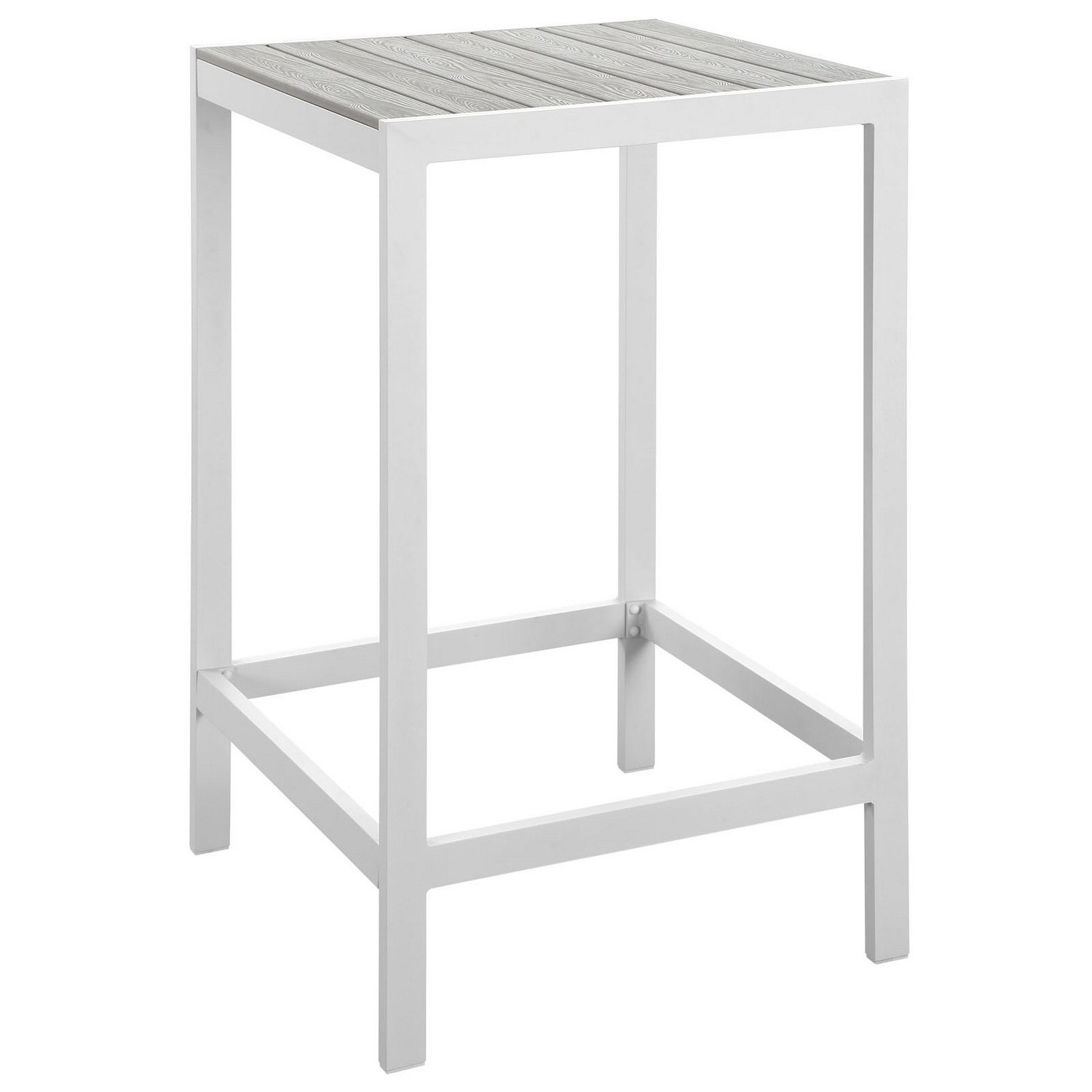 Modway Maine Outdoor Patio Bar Table - White/Light Gray
