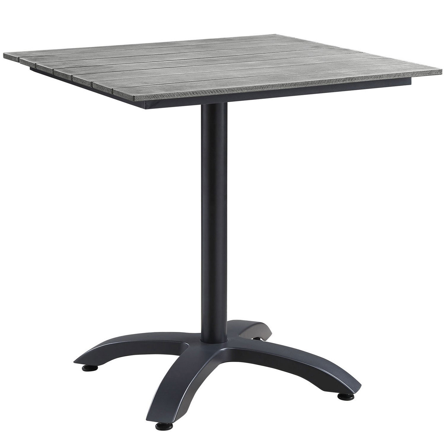 Modway Maine 28 Outdoor Patio Dining Table - Brown/Gray