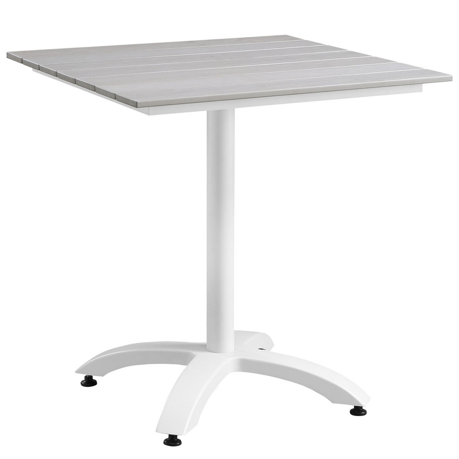 Modway Maine 28 Outdoor Patio Dining Table - White/Light Gray
