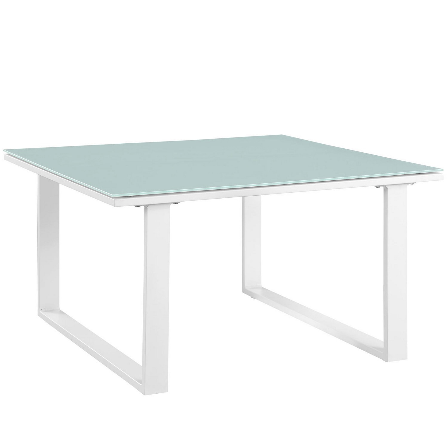 Modway Fortuna Outdoor Patio Side Table - White