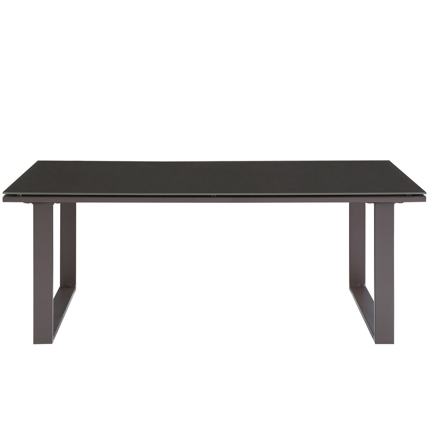 Modway Fortuna Outdoor Patio Coffee Table - Brown