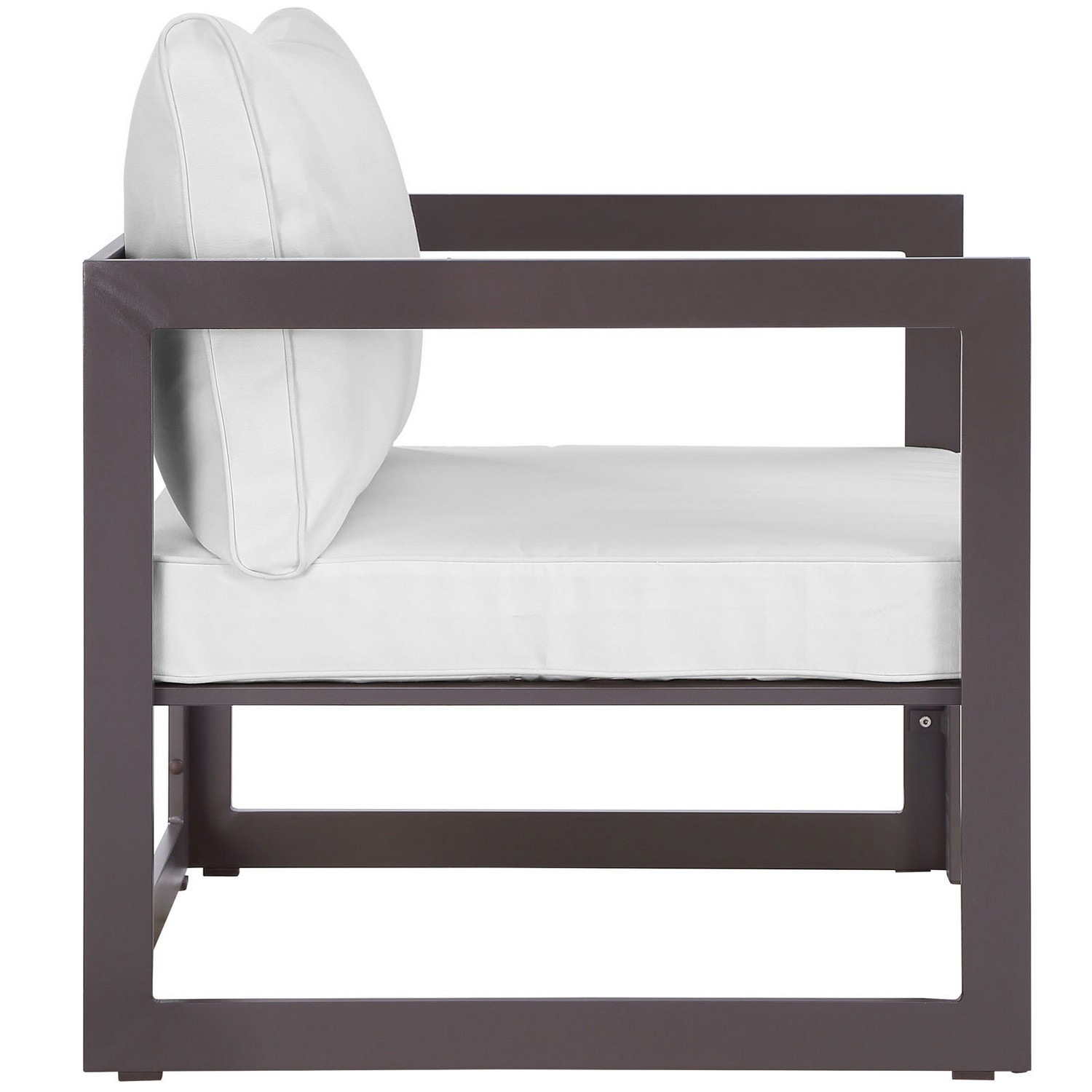 Modway Fortuna Outdoor Patio Armchair - Brown/White