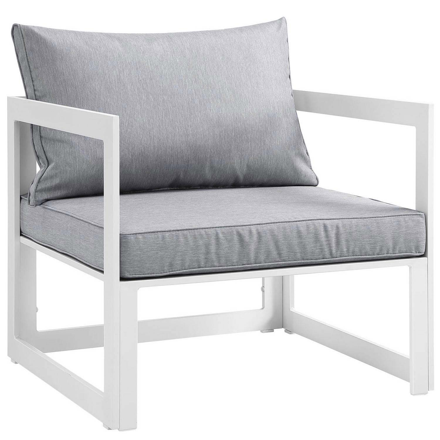Modway Fortuna Outdoor Patio Armchair - White/Gray