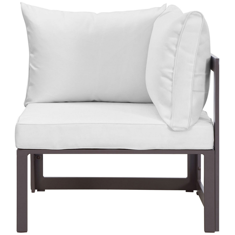 Modway Fortuna Corner Outdoor Patio Armchair - Brown/White