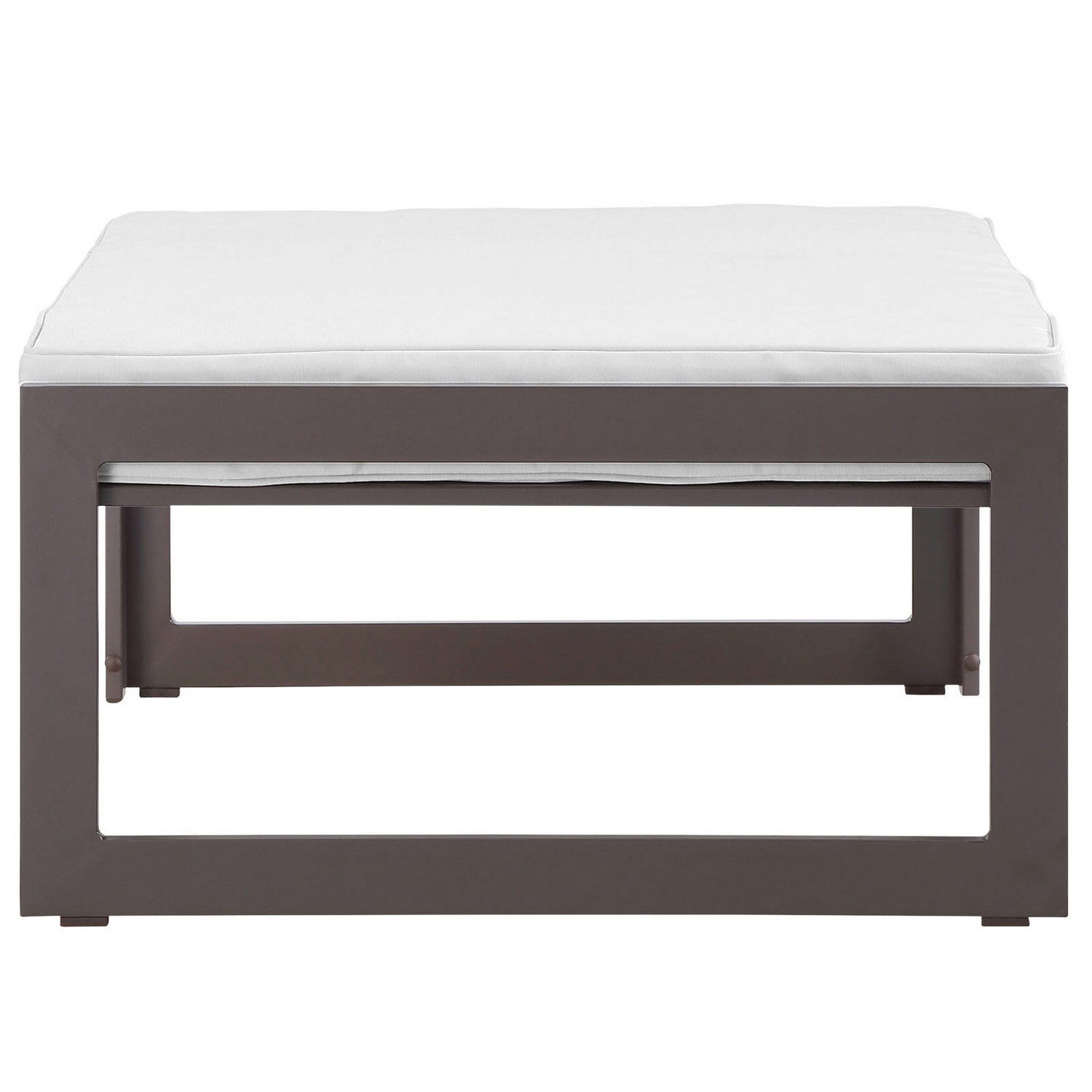 Modway Fortuna Outdoor Patio Ottoman - Brown/White