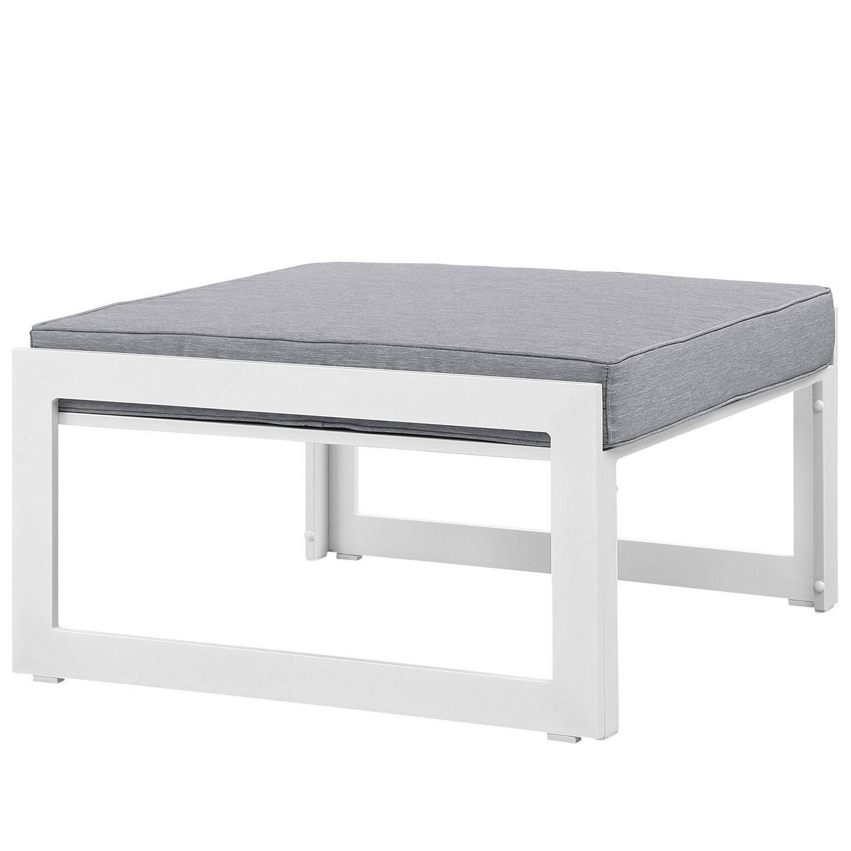 Modway Fortuna Outdoor Patio Ottoman - White/Gray