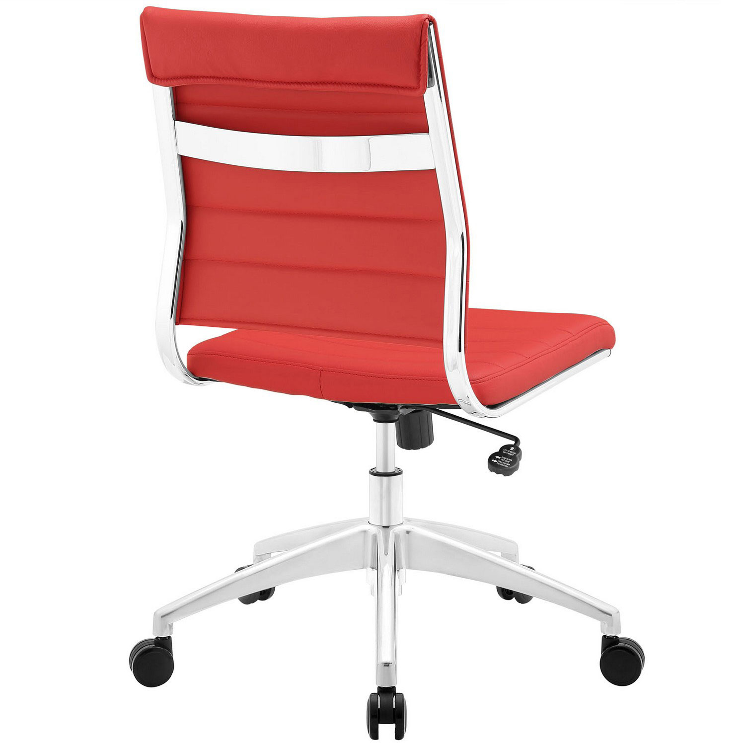 Modway Jive Armless Mid Back Office Chair - Red