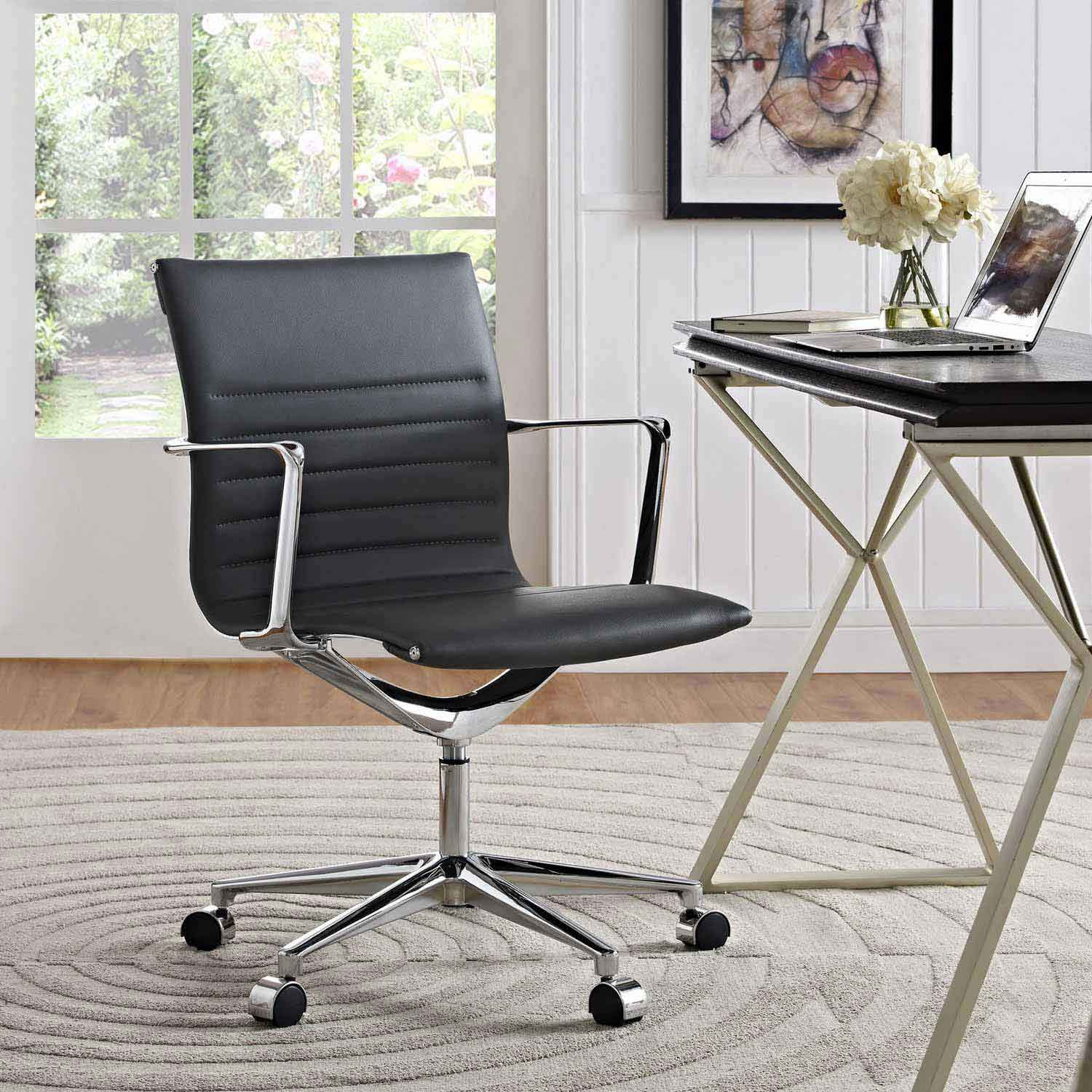 Modway Vi Mid Back fice Chair Gray MW EEI 1526 GRY at