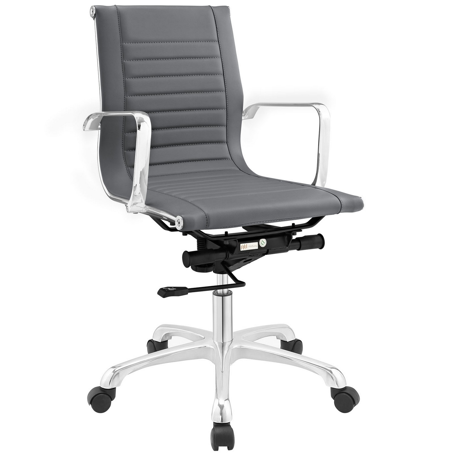 Modway Runway Mid Back Office Chair - Gray