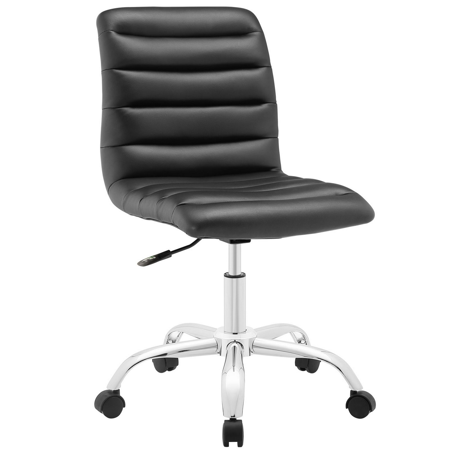 Modway Ripple Armless Mid Back Office Chair - Black