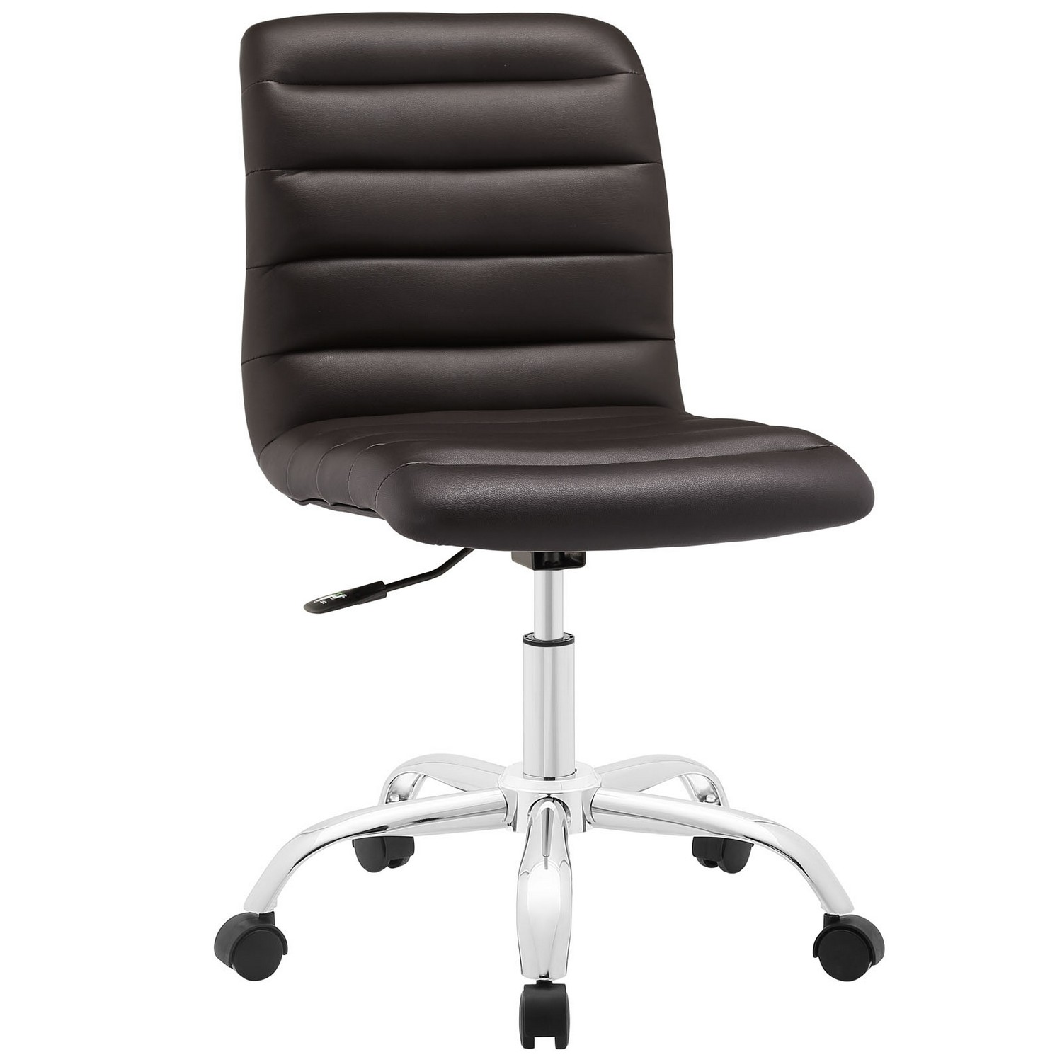 Modway Ripple Armless Mid Back Office Chair - Brown