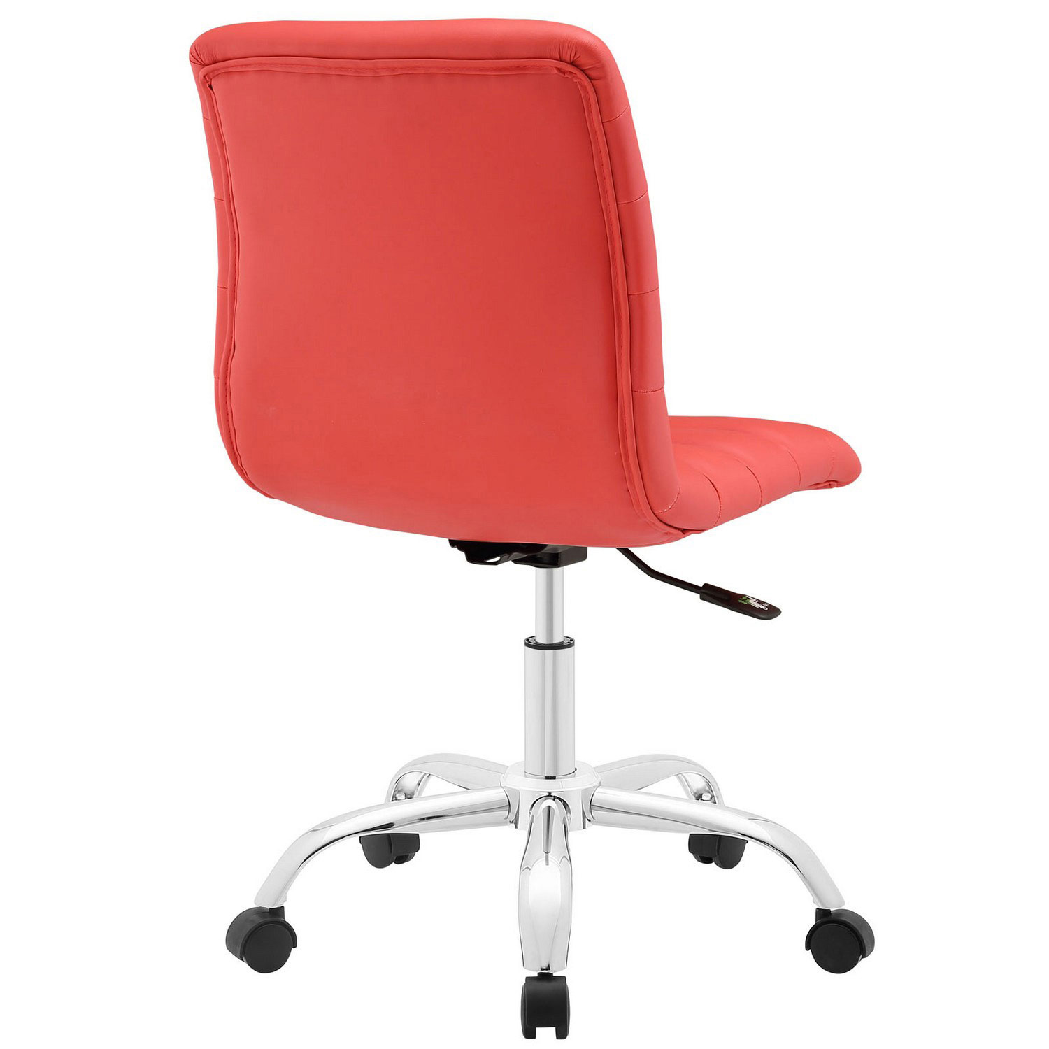 Modway Ripple Armless Mid Back Office Chair - Red