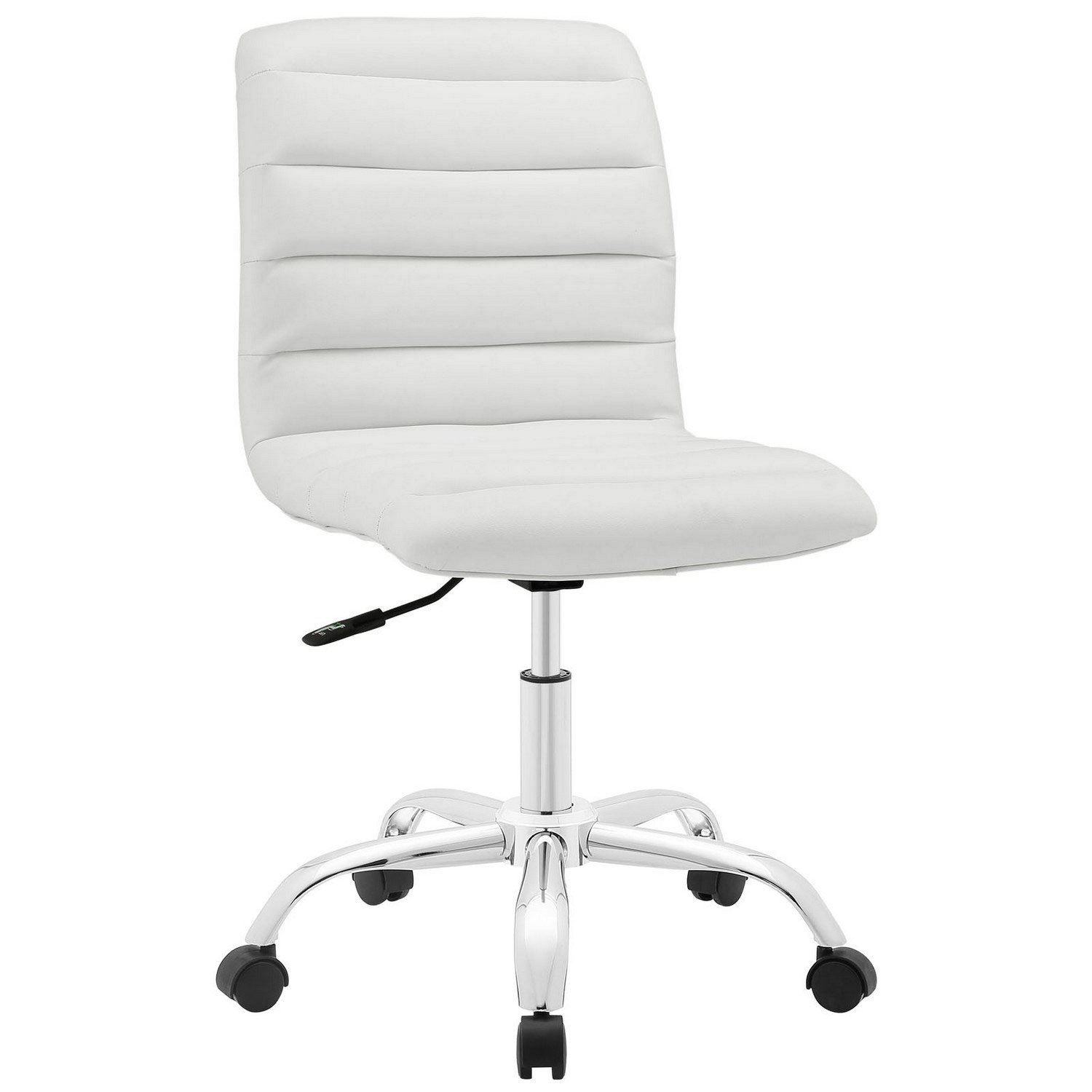 Modway Ripple Armless Mid Back Office Chair - White
