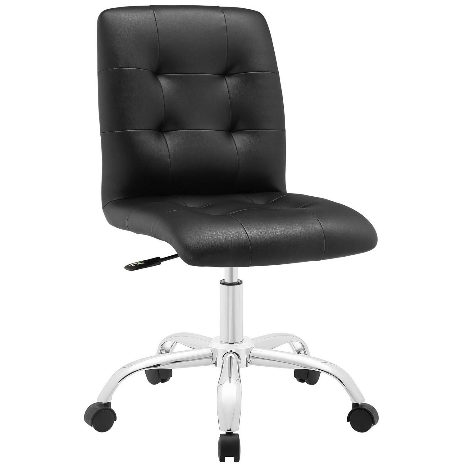 Modway Prim Armless Mid Back Office Chair - Black