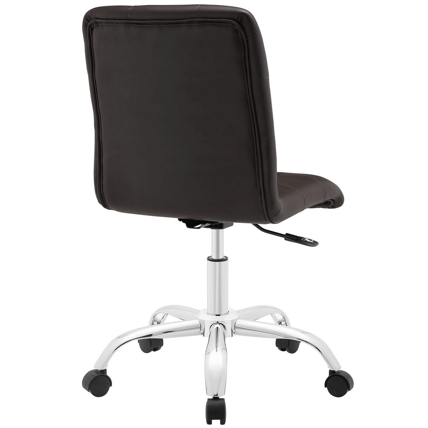 Modway Prim Armless Mid Back Office Chair - Brown