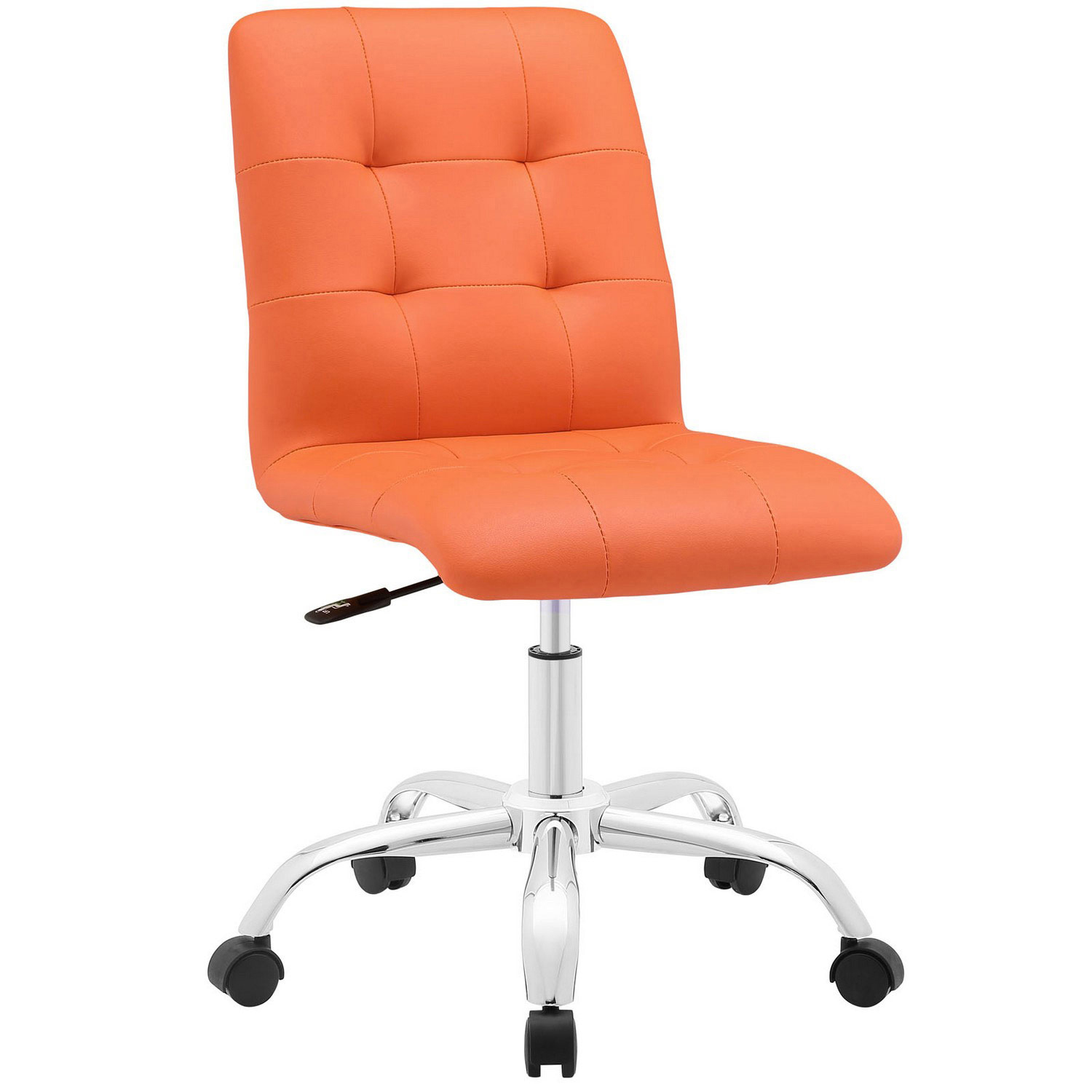 Modway Prim Armless Mid Back Office Chair - Orange