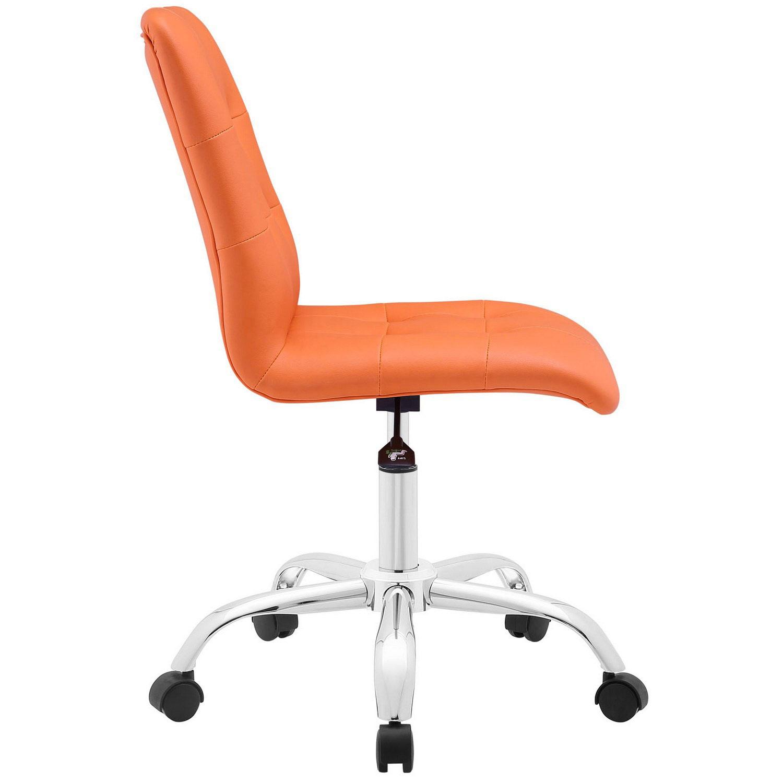 Modway Prim Armless Mid Back Office Chair - Orange