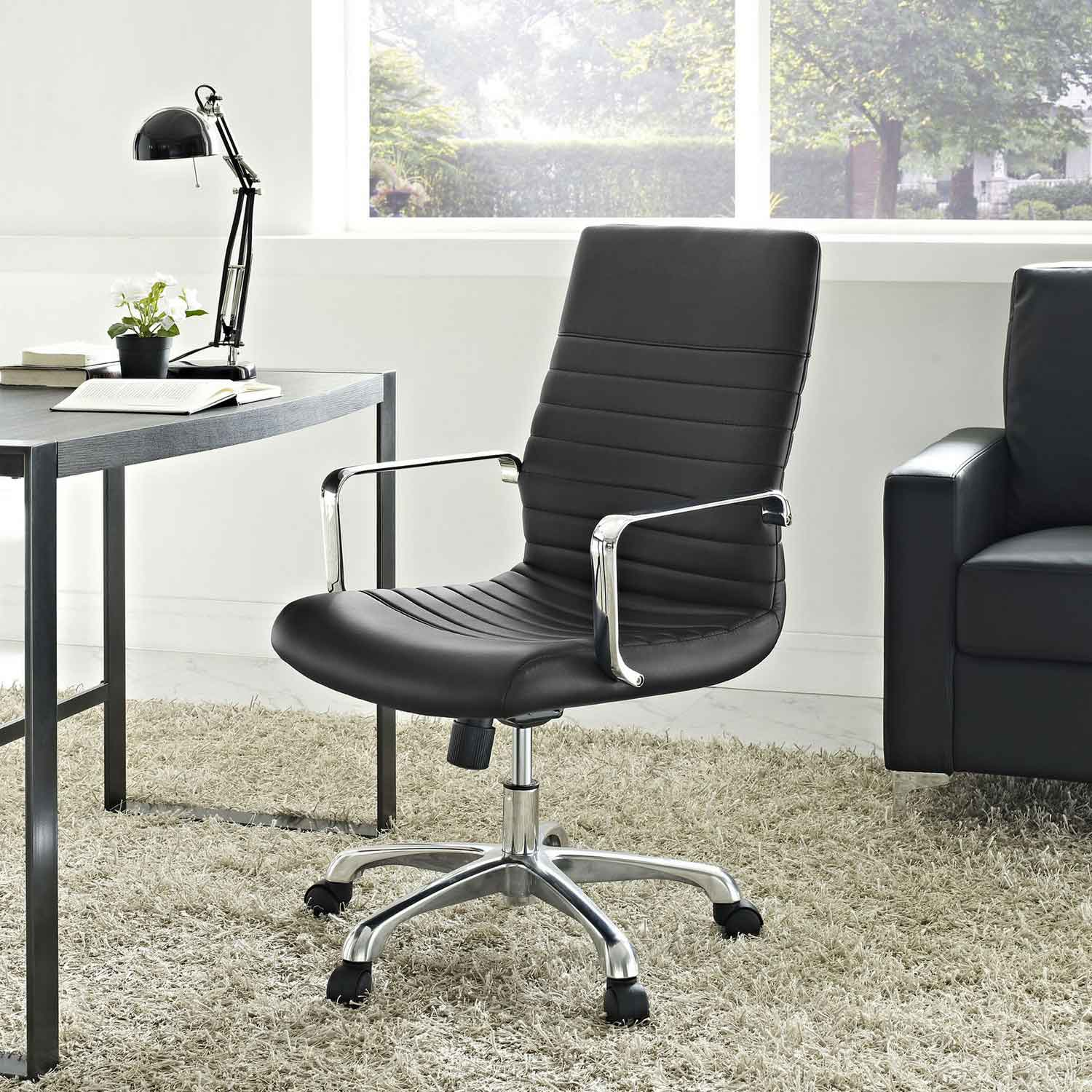 Modway Finesse Mid Back Office Chair - Black
