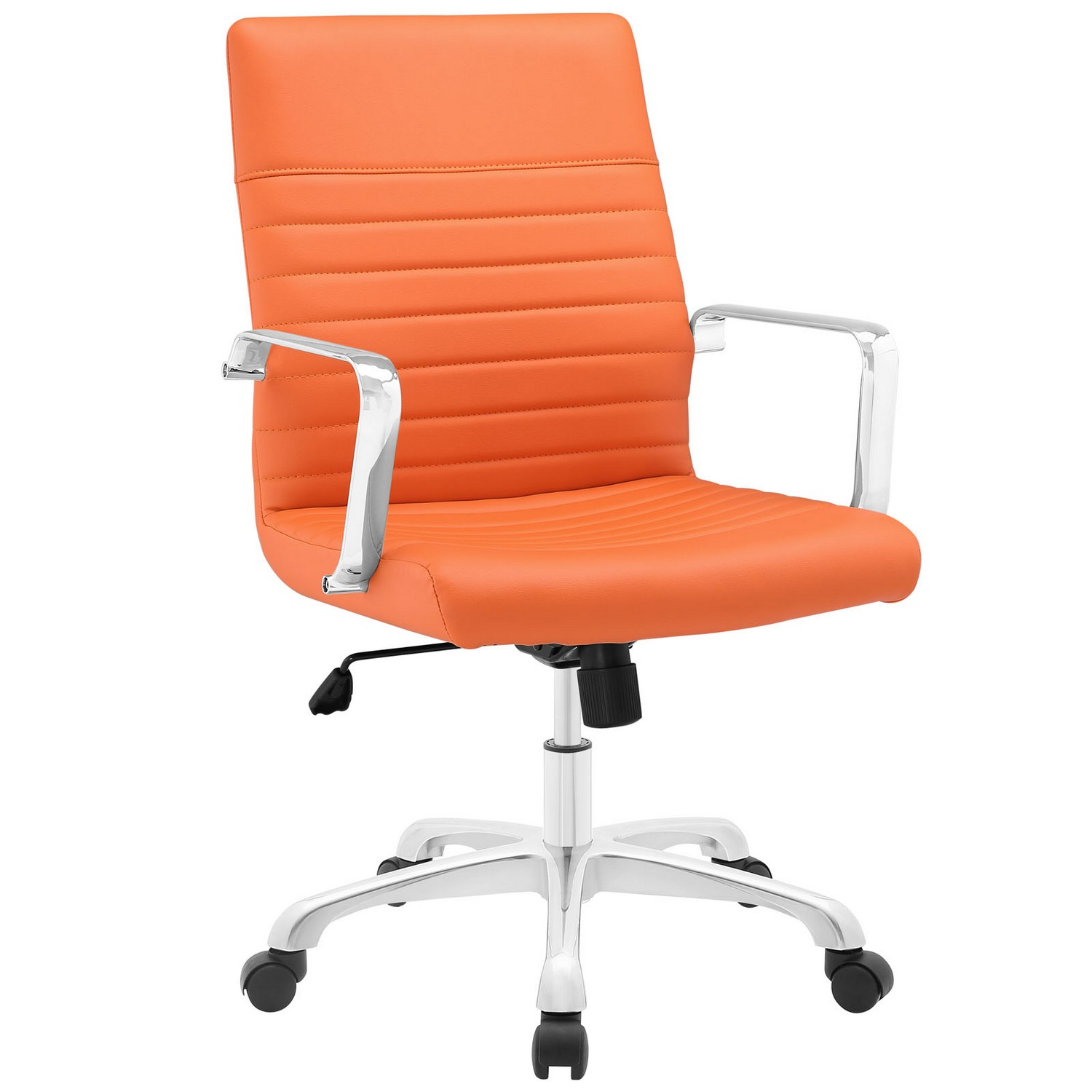 Modway Finesse Mid Back Office Chair - Orange