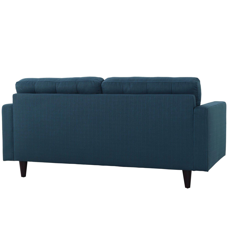 Modway Empress Upholstered Loveseat - Azure