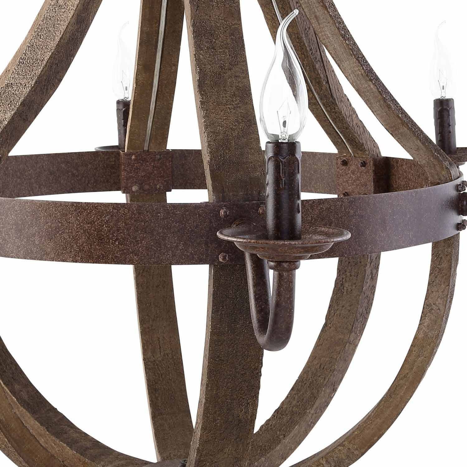 Modway Ballista Chandelier - Antique Brass
