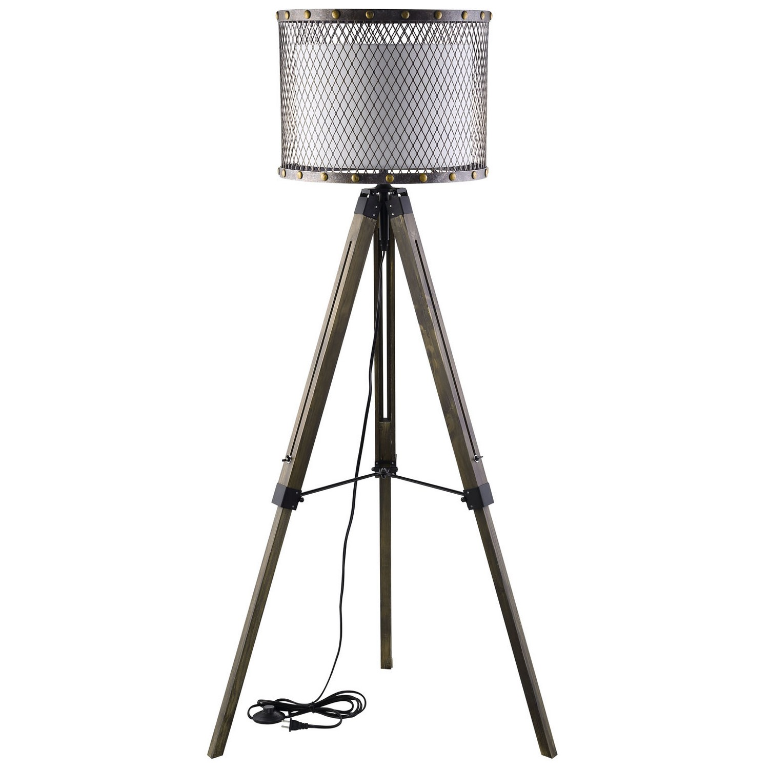 Modway Fortune Floor Lamp - Antique Silver