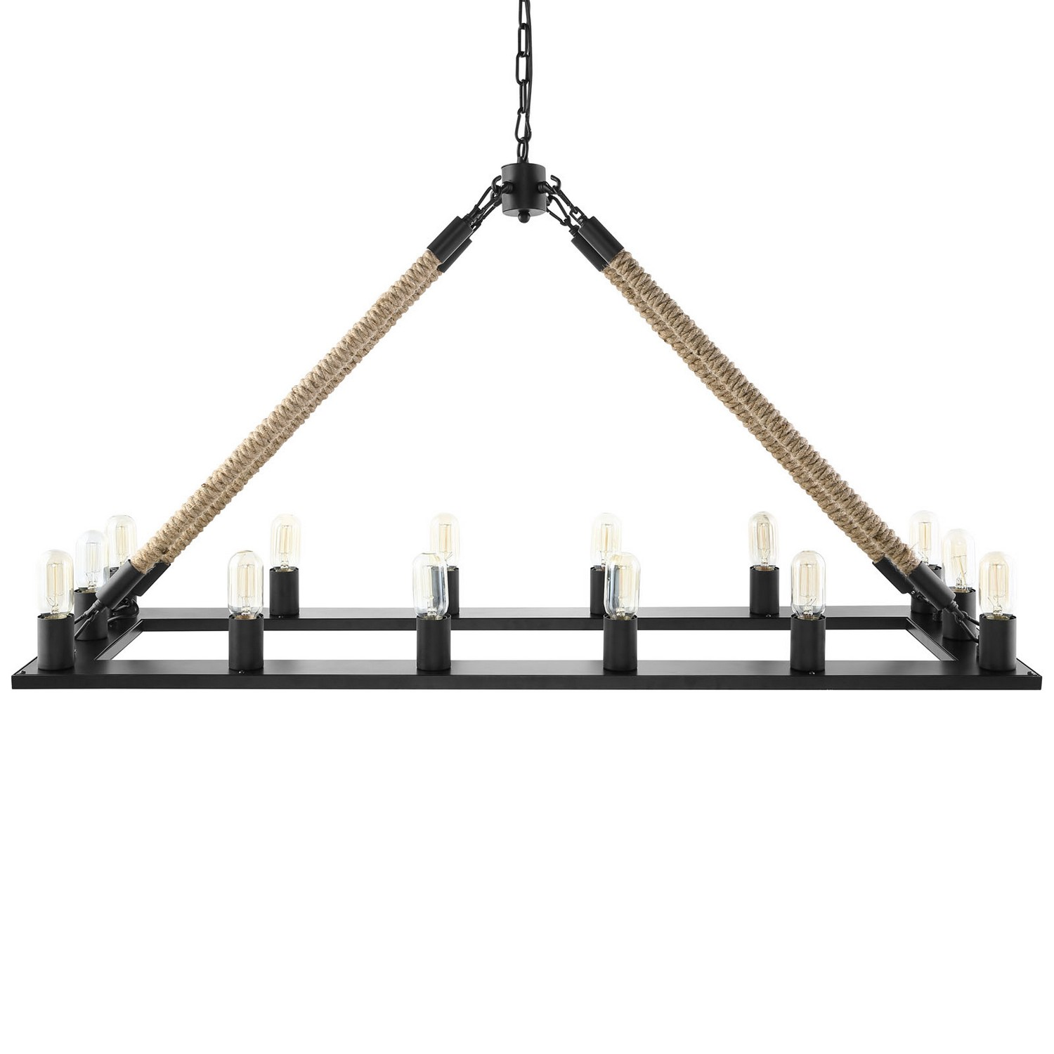 Modway Bridge Chandelier - Black