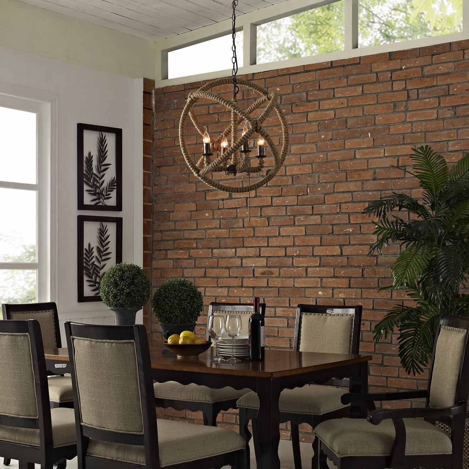 Modway Intention Chandelier - Brown