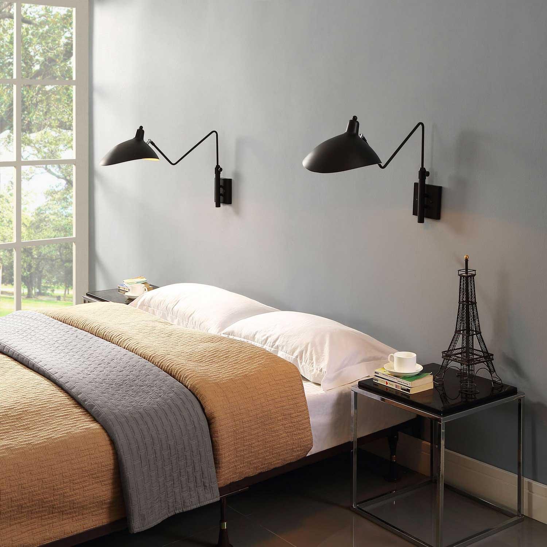 Modway View Wall Lamp - Black