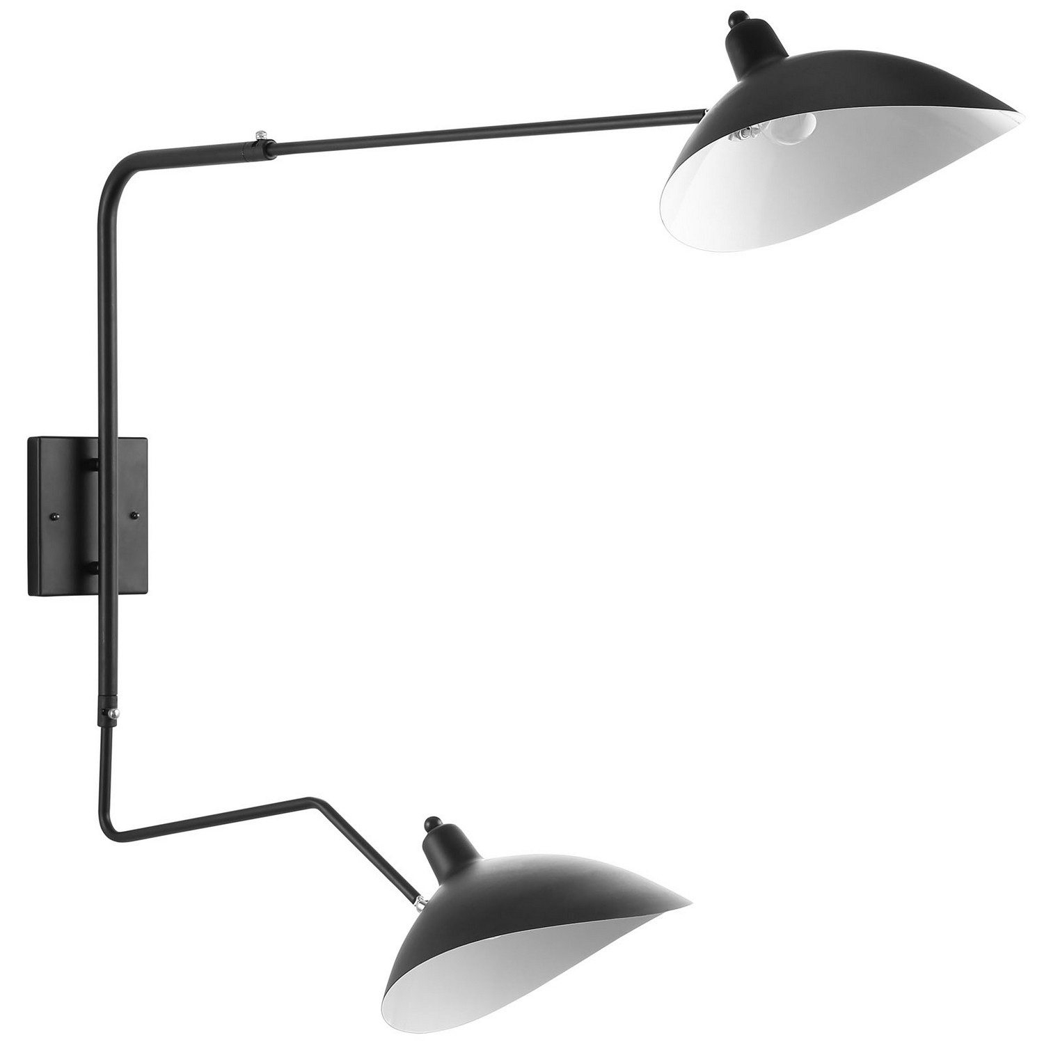 Modway View Double Fixture Wall Lamp - Black