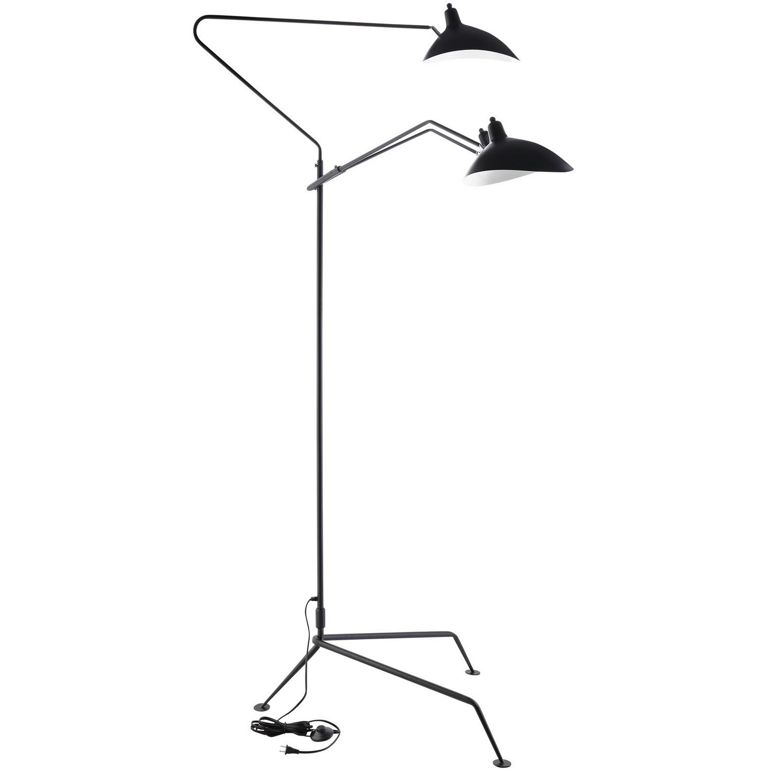 Modway View Stainless Steel Floor Lamp - Black