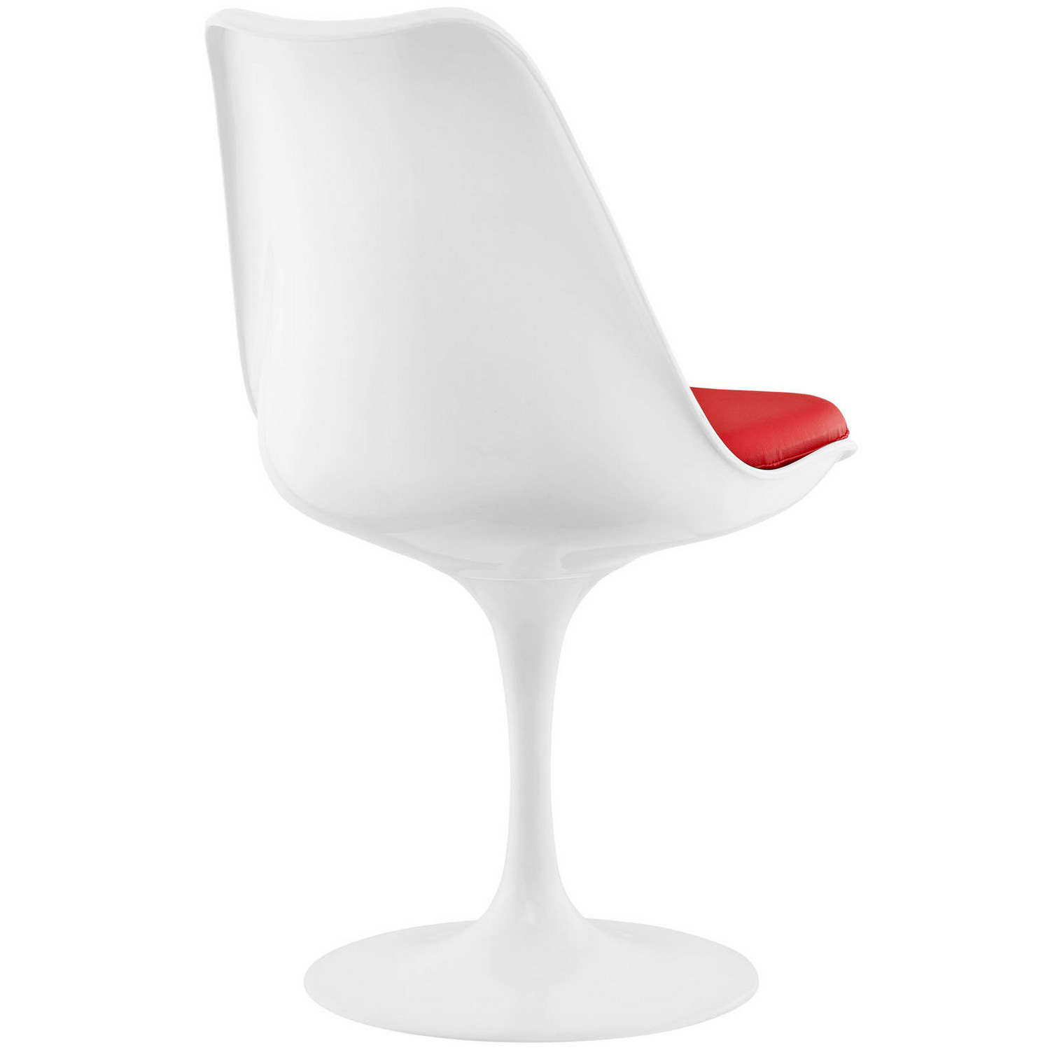 Modway Lippa Dining Vinyl Side Chair - Red