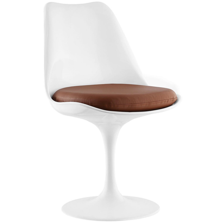 Modway Lippa Dining Vinyl Side Chair - Tan