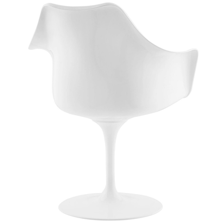Modway Lippa Dining Vinyl Armchair - Black