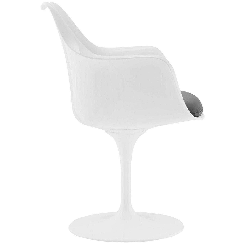 Modway Lippa Dining Vinyl Armchair - Gray