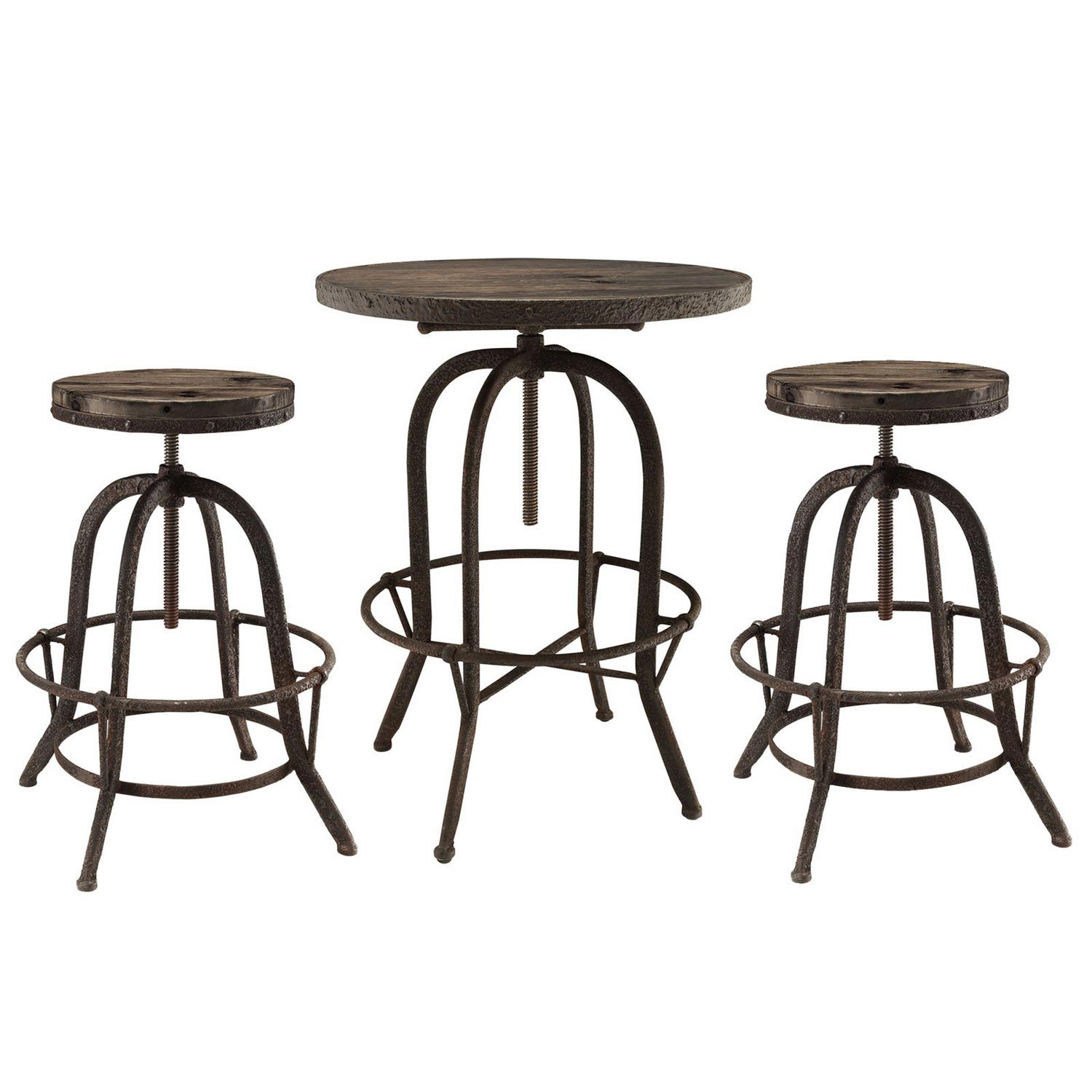 Modway Sylvan 3 Piece Pub Set - Brown