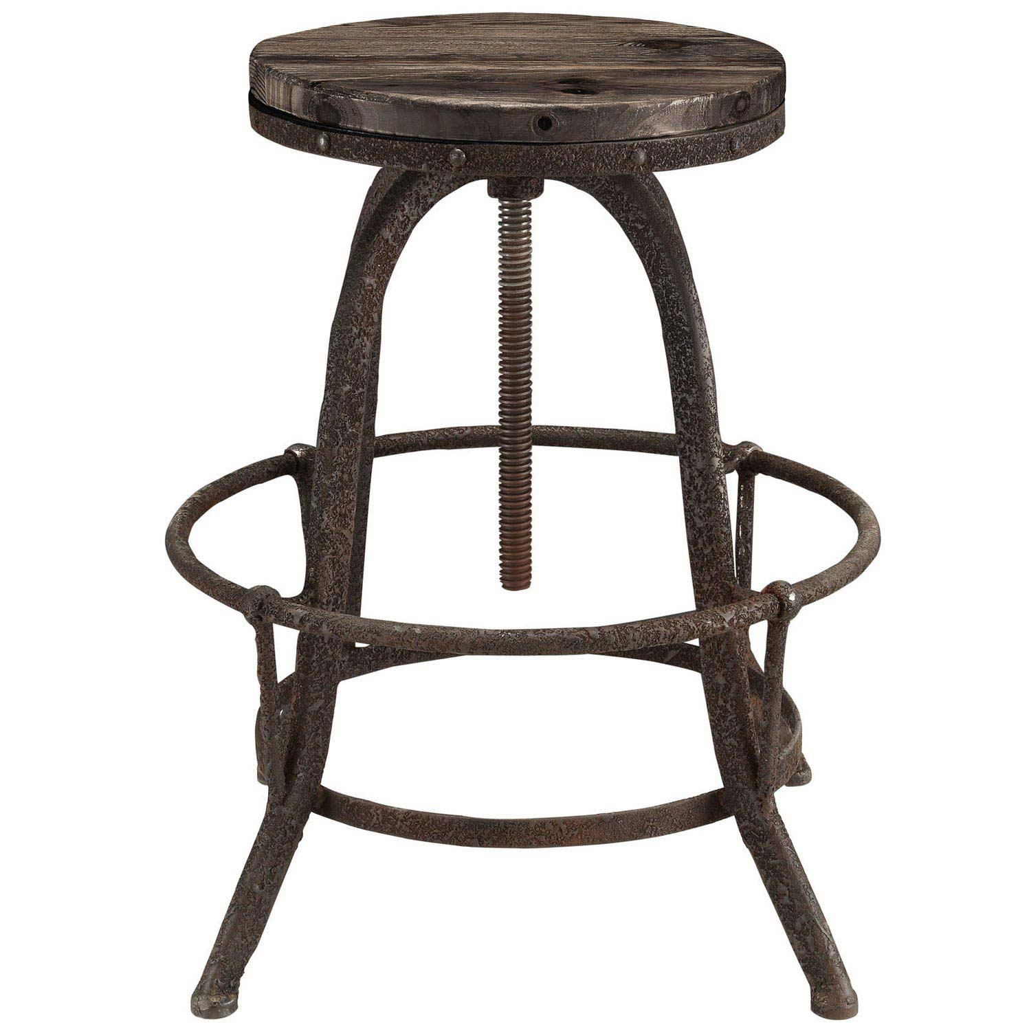 Modway Collect Bar Stool Set of 2 - Brown