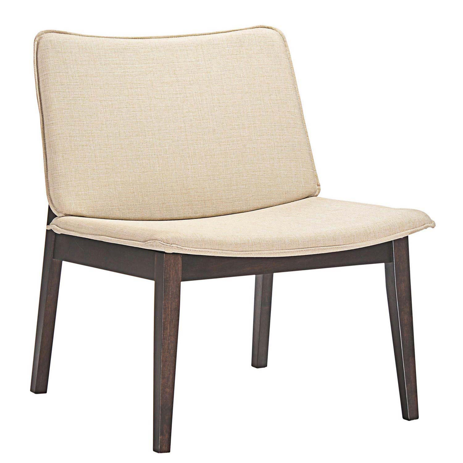 Modway Evade Lounge Chair - Walnut Beige