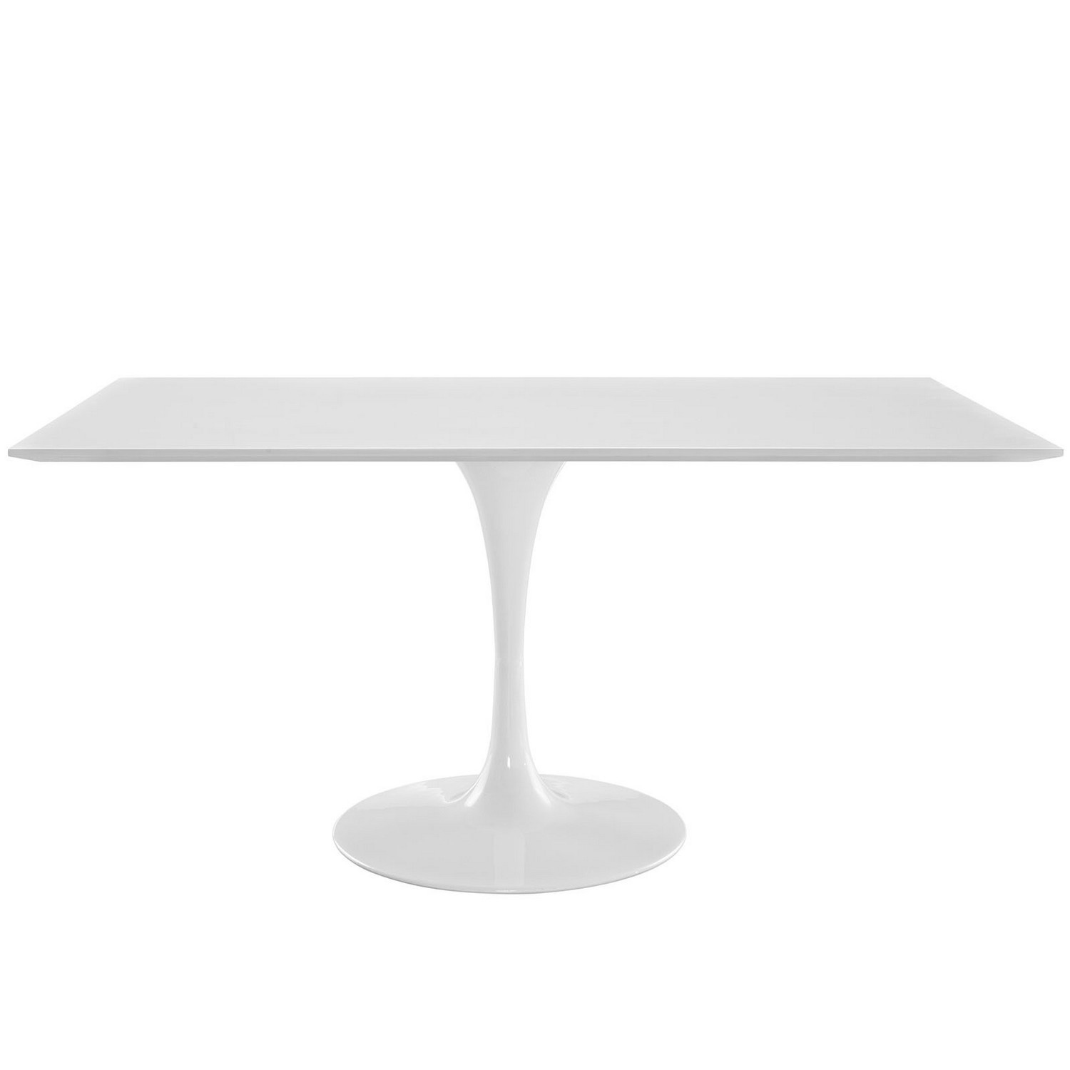 Modway Lippa 60 Rectangle Dining Table - White