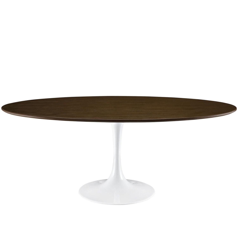 Modway Lippa 78 Wood Dining Table - Walnut