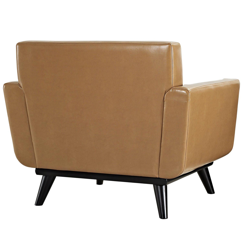 Modway Engage Leather Sofa Set - Tan