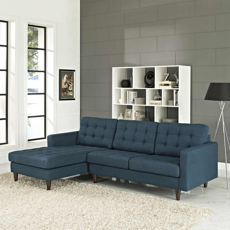 Modway Empress Left-Arm Sectional Sofa - Azure