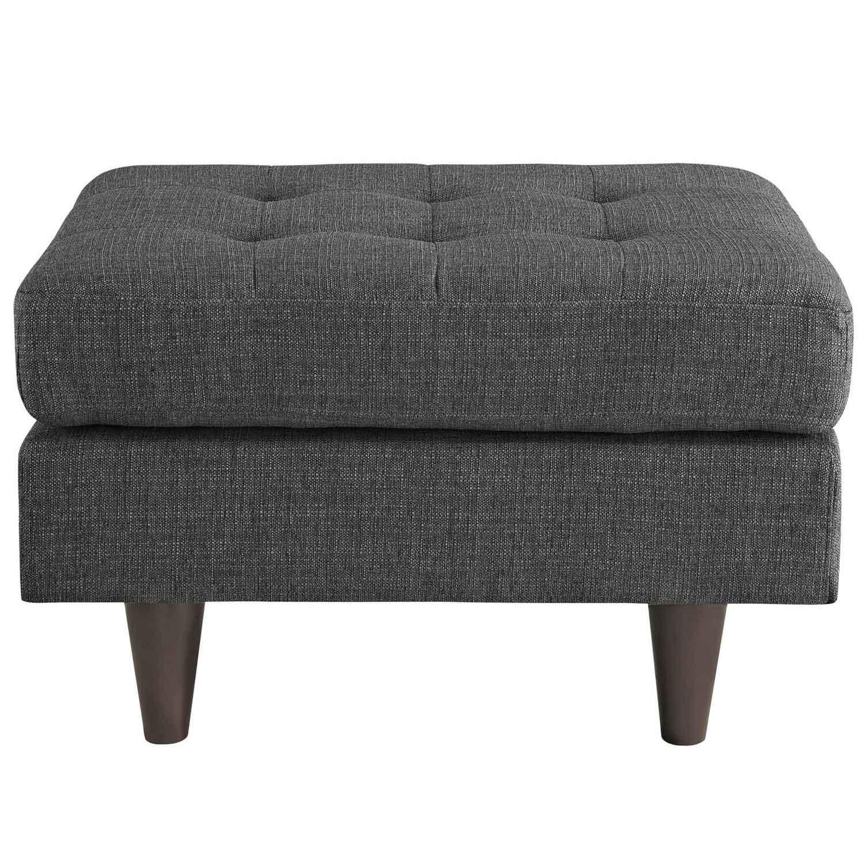 Modway Empress Upholstered Ottoman - Gray